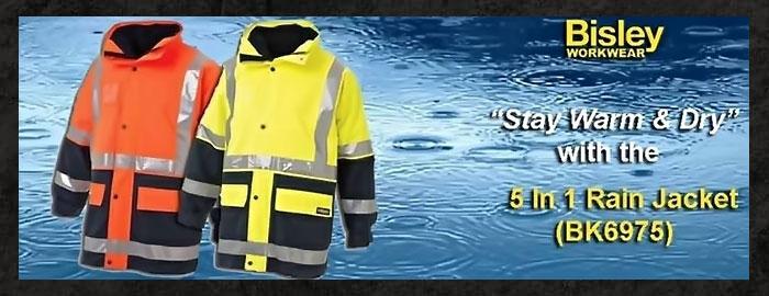 Bisley 5 in 1 Rain Jacket