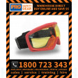 AMBER Lens Bush Fire Inferno High Temperature Rated Goggle