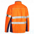 6XL Bisley Orange/Navy Soft Shell Jacket with 3M Reflective Tape (BJ6059T)