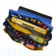 Beehive Double Base Vinyl Tool Bag with reflective tape on the lid flap