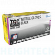 TGC (Box of 100) Black Nitrile Disposable Gloves S