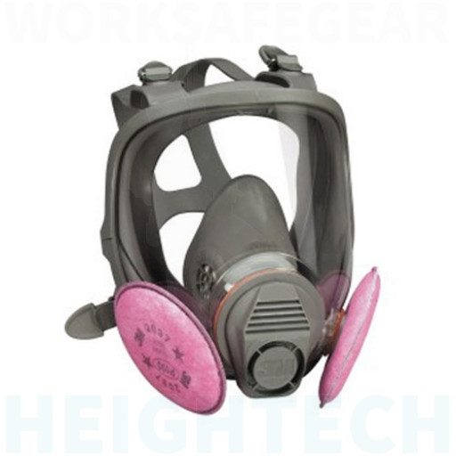 Medium 3M P3 Full Face Respirator Mask 6800 + 2091 Filters