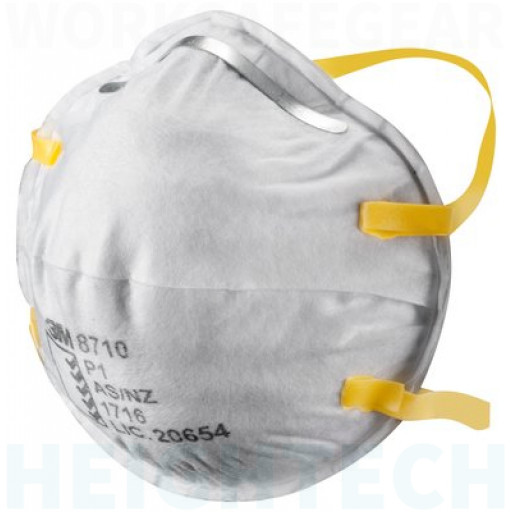(Box of 20) 3M P1 Cupped Particulate Respirator (8710),Respiratory Products. No Confirmed ETA