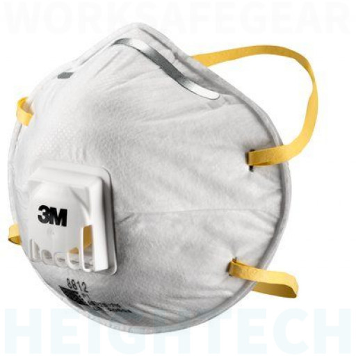 (Box of 10) 3M P1 Cupped Particulate Respirator with valve (8812),Respiratory Products.