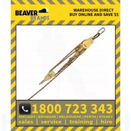 Beaver Rescue System Auto Brake 4.1 Adv C_W Karabiners_Adaptor 60 Rope (Br02055)