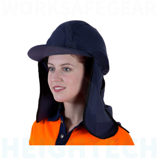 Uveto NAVY 100% Cotton Gobi Over Hat Helmet Add-on (GBCNV)