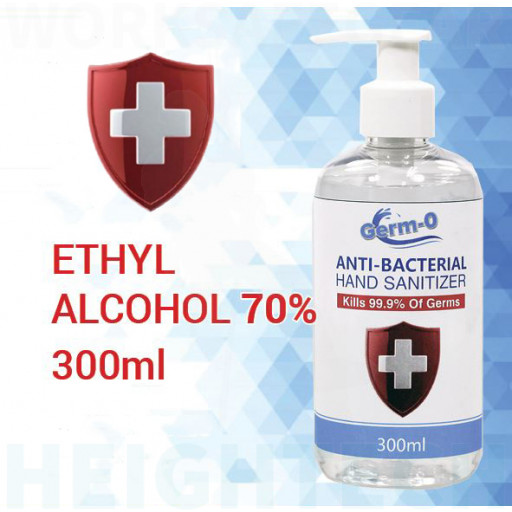 300ml Germ-o ALCOHOL BASED HAND SANITIZER GEL ANTI-BACTERIAL KILLS 99.99% GERMS