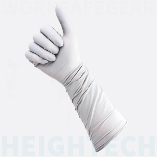 (Box of 40) The Glove Company X-LARGE TGC Grey Nitrile 400mm Gloves (162404)