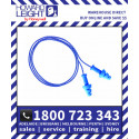 SmartFit Blue Multiple-Use Earplug Blue Nylon Cord  (50pk)