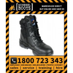 Mongrel Black Black High Leg ZipSider Boot Work Boot Victor Footwear Shoe (951020)