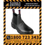 Mongrel Black Elastic Sided Workboot Safety Work Boot Victor Footwear Shoe (240011)