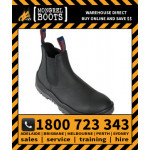 Mongrel Black Kip Elastic Sided Boot Safety Work Boot Victor Footwear Shoe (240020)