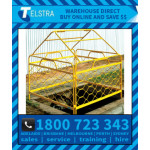 Telstra Yellow NBN Pit Barrier with tent frame (OWTF45)