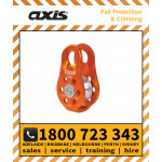 Axis 22kN PULLEY Fixed Cheek Orange (APUL11)