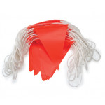 ProChoice Orange PVC Flag Bunting. Day Use. ORANGE Flags 30m (BUN30)