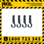 Petzl Crochlamp S Headlamp Helmet Clips (Pack Of 4) (E04350)