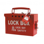 Group Safety Red Lockout Lock Box 250x150x100