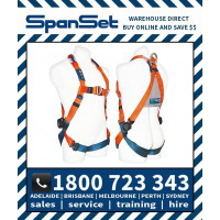 Spanset 1104 ERGO Premium Water Work Harness S/S quick release buckles and dorsal extension Small