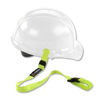 ERGODYNE SQUIDS 3150 ELASTIC HARD HAT LANYARD WITH BUCKLE - LIME (19150)
