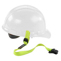 ERGODYNE SQUIDS 3155 ELASTIC HARD HAT LANYARD WITH CLAMP - LIME (19155)