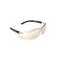 MSA NULLARBOR Safety Glasses With Black Frame & Light Gold Scratch Resistant Anti-Fog Lenses