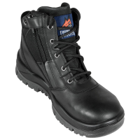 Mongrel Black Zipsider Boot Steel Cap (261020)