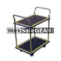 2 Tier Steel Platform Chrome Uprights (RGWE NB104 WSG)