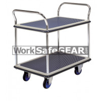 2 Tier Steel Platform Chrome Uprights (RGWE NF304 WSG)