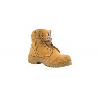 332152 WHEAT - Steel Blue Argyle Zip Bump Cap Steel Toe Cap Work Boots 1.jpg
