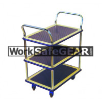 3 Tier Steel Platform Chrome Uprights (RGWE NB105 WSG)