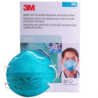 (Box of 20) 3M Cupped Particulate N95/P2 Respirator & Surgical Mask (1860)