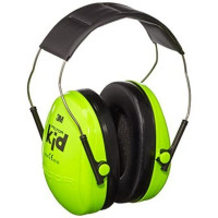 3M PELTOR Neon Green Headband Format Kid Earmuffs SNR 27dB (XH001678487)