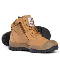 SIZE 8.5 Mongrel Boots Wheat ZipSider Low Leg Boot (scuff cap) 461050