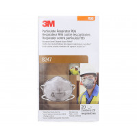3M 8247 GP2 Particulate, Nuisance Vapours & Odours Respirator z-pk 20