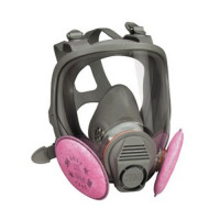 Small 3M P3 Full Face Respirator Mask 6700 + 2091 Filters