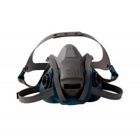 3M Medium Rugged Comfort Half Facepiece Respirator Quick Latch 6502QL mask only, filters not included