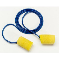 (Case of 10 boxes) 3M Yellow Corded Earplugs in Polybag Class 3 SLC80 21dB (200 pairs per box) (70071514940)