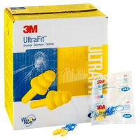 (Case of 4 boxes) 3M Yellow Corded Earplugs in Polybag Class 3 SLC80 18dB (100 pairs per box) (70071515772)