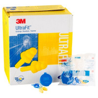 (Case of 4 boxes) 3M Yellow Corded Earplugs in Hard Case Class 3 SLC80 18dB (50 pairs per box) (70071515798)