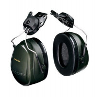 (Case of 10 boxes) 3M Green Helmet Attachment Format Earmuffs Class 5 SLC80 30dB (1 pair per box) (70071516283)