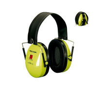 (Case of 10 boxes) 3M High Visibility Neon Yellow Folding Headband Format Earmuffs Class 5 SLC80 31dB (1 pair per box) (70071516291)