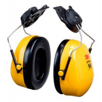 (Case of 10 boxes) 3M Yellow Helmet Attachment Format Earmuffs Class 4 SLC80 24dB (1 pair per box) (70071516333)