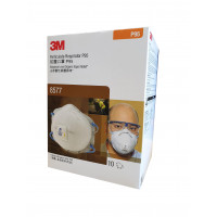 3M N95 P2 Particulate, Nuisance Vapours & Odours Respirator with valve (8577) Pk-10