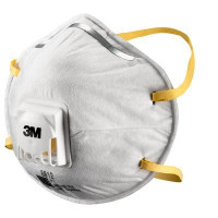 (Case of 24 boxes) 3M P1 Cupped Particulate Respirator with valve (8812)