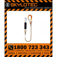 Skylotec BFD SK12 11mm Kernmantle rope Single leg 23mm gate Double action snap hook & 60mm Aluminimum scaffold hook Rated 100kg (L-AUS-0081-1.5)