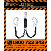 Skylotec BFD Y Flex 1.5m Twin Elasticated Webbing Lanyard with Scaffold Hooks