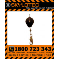 Skylotec HSG HK - SRL 3m, 5mm galcable with impact indicating swivel d_action 45kN steel snap hook, 23mm gate, 16kN side load (FASK HSG-002-3)
