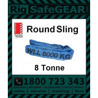 8 Tonne Round Slings (Blue) 6m - 8m Lengths