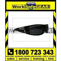 Bandit III Jet Fashion Safety Glasses Eye Protection Specs Black Frame, Smoke Lens (5506SBAR)