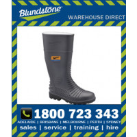 Blundstone Style 024 Grey waterproof safety gumboot with steel penetration resistant midsole